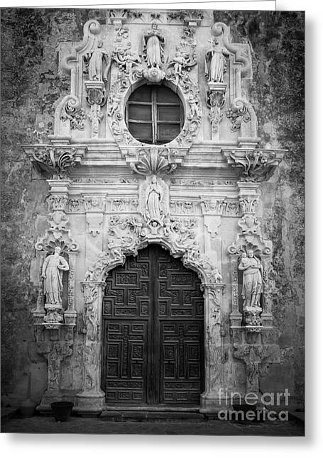 Mission Entrance Greeting Card by Inge Johnsson