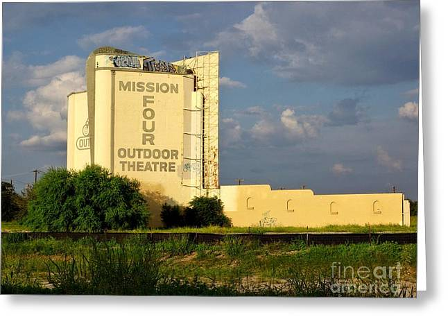 Outdoor Theater Greeting Cards - Mission Four Greeting Card by Gary Richards