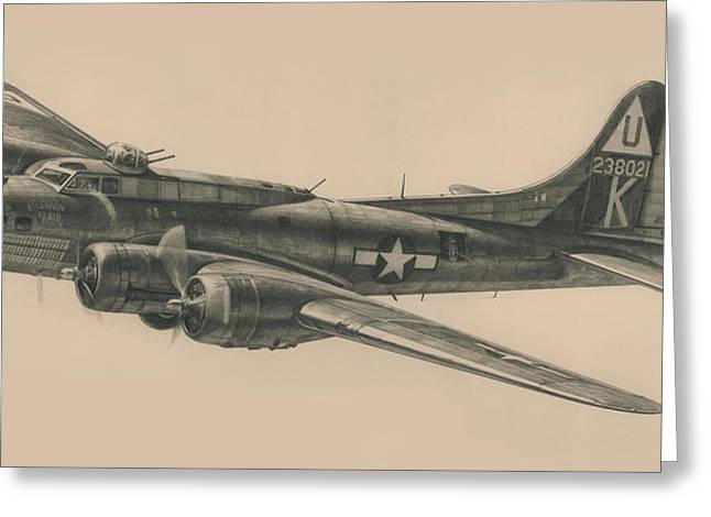 Spitfire Drawings Greeting Cards - Mission Maid Greeting Card by Wade Meyers