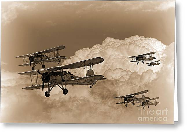 Swordfish Greeting Cards - Mission Over Greeting Card by Peter Chapman