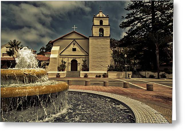 Ventura California Greeting Cards - Mission San Buenaventura Greeting Card by Mountain Dreams