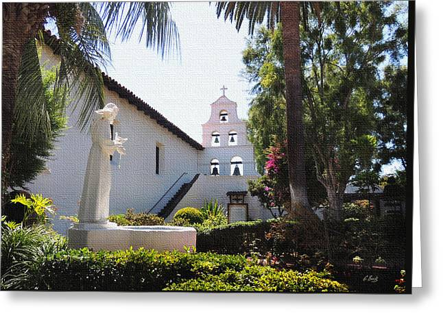 Francis Greeting Cards - Mission San Diego Greeting Card by Gordon Beck