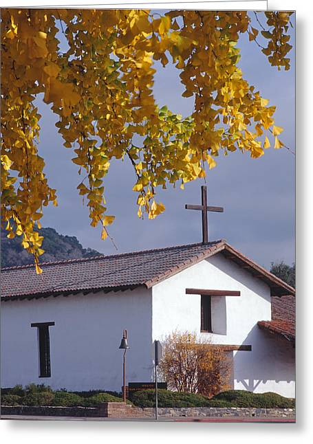 3b6377-mission San Francisco De Solano  Greeting Card by Ed  Cooper Photography