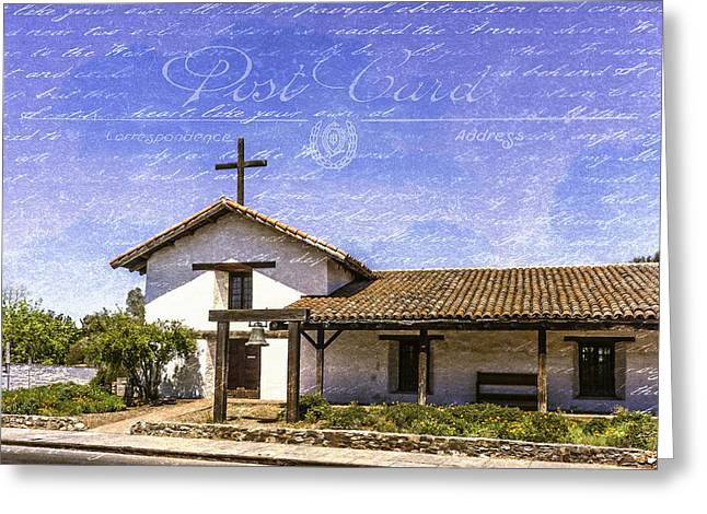 Mission San Francisco Solano Postcard Effect Greeting Card by Karen Stephenson