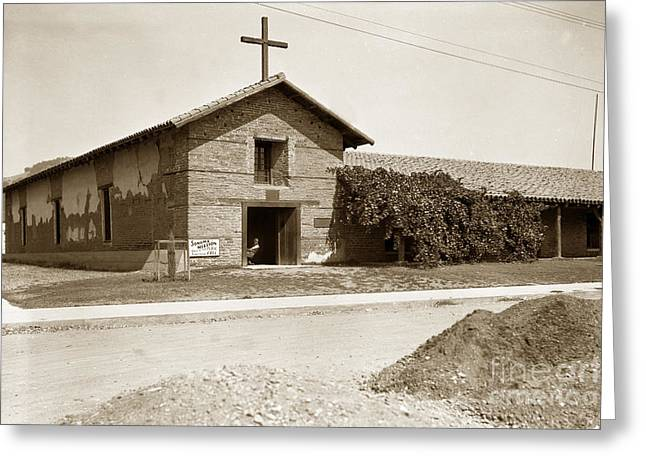 Mission San Francisco Solano Sonoma California Circa 1920 Greeting Card by California Views Mr Pat Hathaway Archives