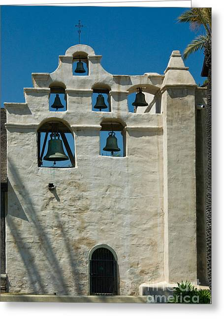 Entrance Door Greeting Cards - Mission San Gabriel Arcangel Greeting Card by Richard and Ellen Thane