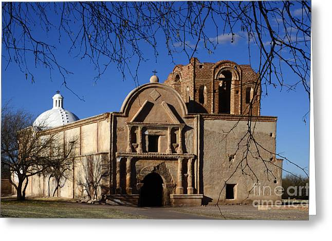 Historical Buildings Greeting Cards - Mission San Jose De Tumacacori 1 Greeting Card by Bob Christopher