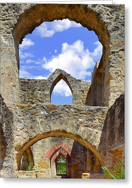 Mission San Jose In San Antonio Greeting Card by Christine Till