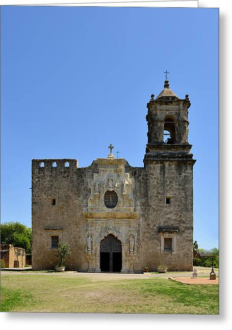 Baroque Greeting Cards - Mission San Jose SA Greeting Card by Christine Till