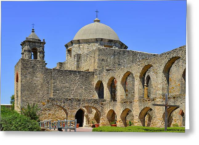 Tx Greeting Cards - Mission San Jose - San Antonio Greeting Card by Christine Till
