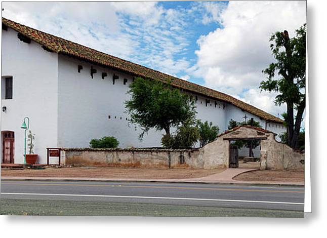 Mission San Miguel Church At Roadside Greeting Card by Panoramic Images