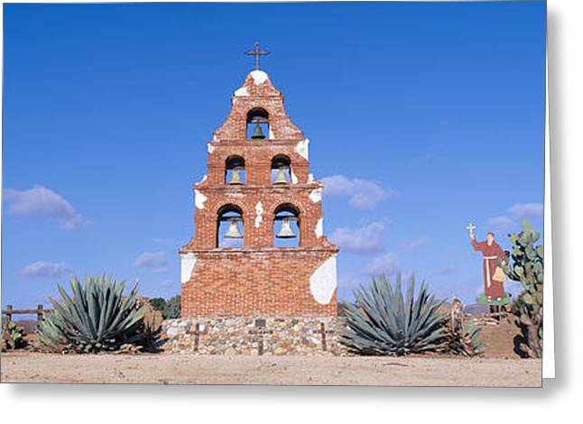 Panoramic Landscape Greeting Cards - Mission San Miguel, San Miguel Greeting Card by Panoramic Images
