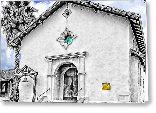 Mission San Rafael Greeting Cards - Mission San Rafael Arcangel Greeting Card by Ken Evans