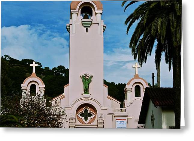 Mission San Rafael Greeting Card by Eric Tressler