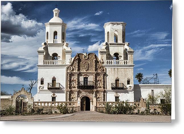 Mission San Xavier Del Bac Greeting Card by Stephen Stookey