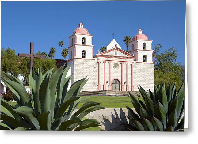 California Central Coast Greeting Cards - Mission Santa Barbara Greeting Card by Barbara Snyder