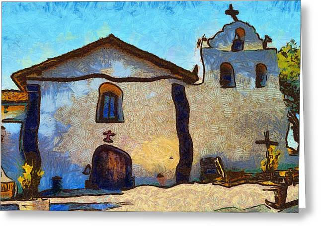 Saint Barbara Greeting Cards - Mission Santa Ines Greeting Card by Barbara Snyder