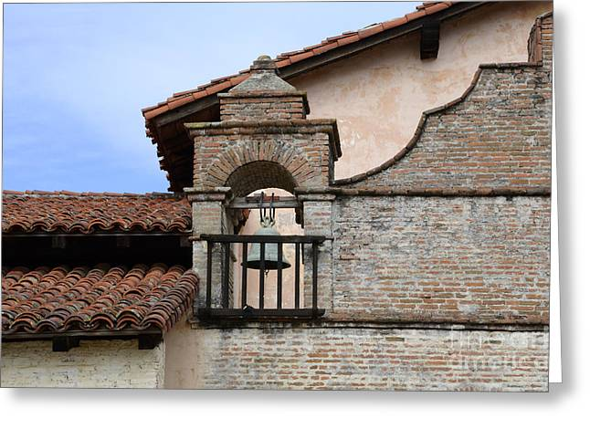 Mission Santa Ines Greeting Card by Bob Christopher