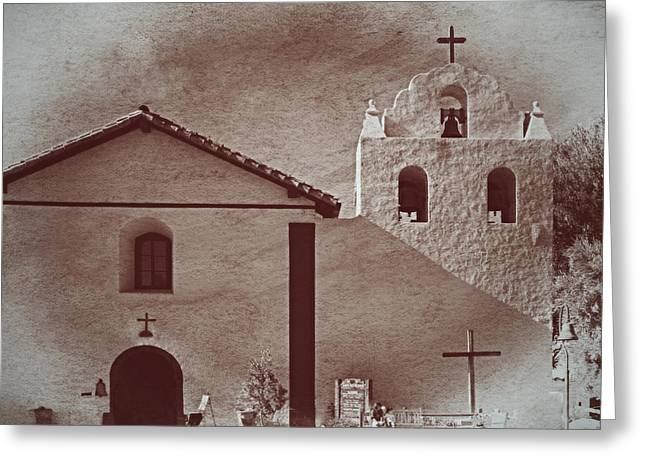 Ine Trees Greeting Cards - Mission Santa Ines Greeting Card by See My  Photos