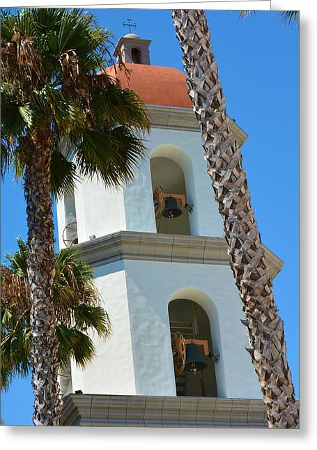 Mission Tower And Bells Greeting Card by Richard Jenkins