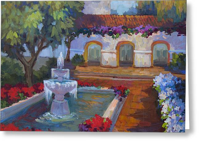 Cloister Greeting Cards - Mission Via Dolorosa Greeting Card by Diane McClary