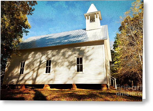 Gatlinburg Tennessee Greeting Cards - Missionary Baptist Church Greeting Card by Lena Auxier