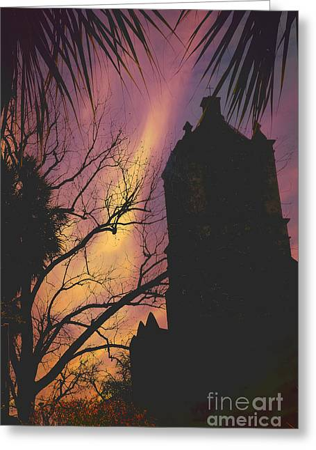The Church Greeting Cards - Missions Tower Greeting Card by Iris Greenwell