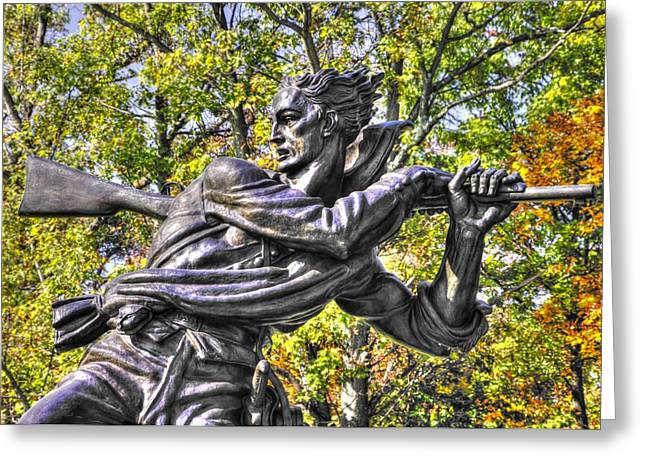 Pitzer Woods Greeting Cards - Mississippi at Gettysburg - Desperate Hand-to-Hand Fighting No. 1 Greeting Card by Michael Mazaika
