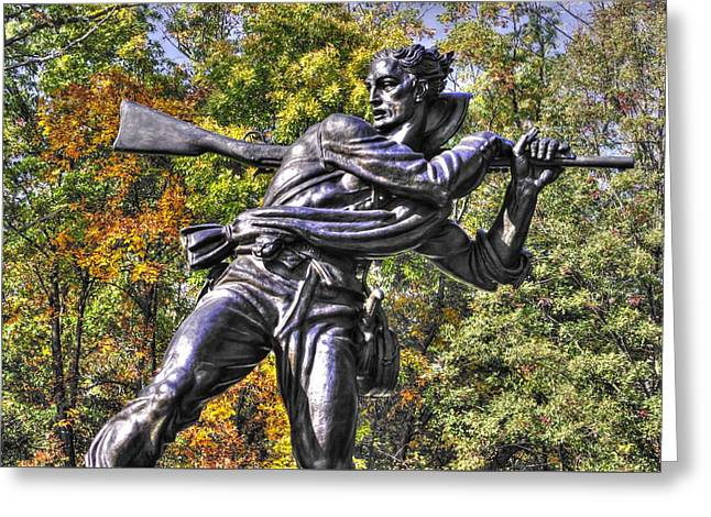 Pitzer Woods Greeting Cards - Mississippi at Gettysburg - Desperate Hand-to-Hand Fighting No. 3 Greeting Card by Michael Mazaika