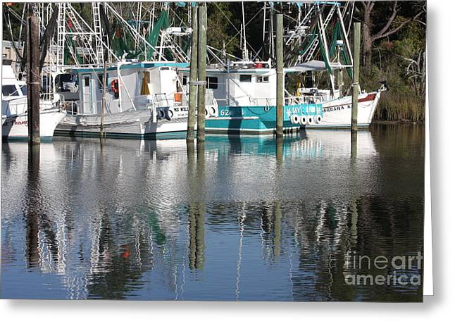 Mississippi Boats Greeting Card by Carol Groenen