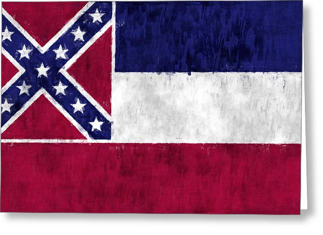 State Of Mississippi Greeting Cards - Mississippi Flag Greeting Card by World Art Prints And Designs