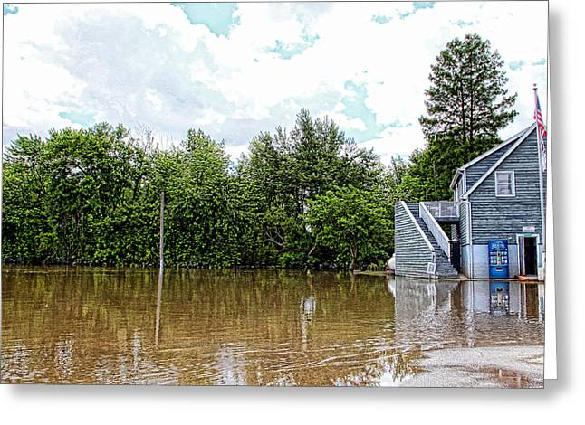 River Flooding Greeting Cards - Mississippi Flood Greeting Card by Karen Lynch