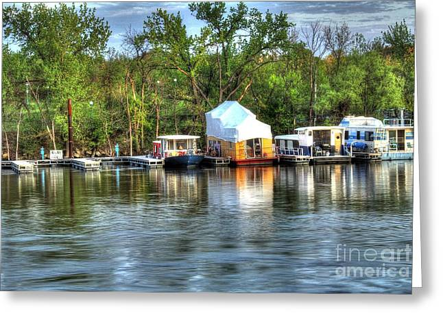 Boat Slip Greeting Cards - Mississippi Harbor 3 Greeting Card by Jimmy Ostgard