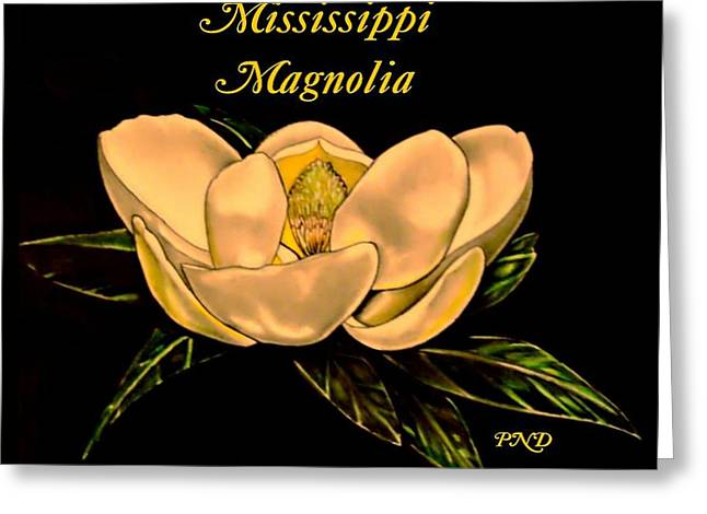 Neely Greeting Cards - Mississippi Magnolia - Patricia Neely-Dorsey Greeting Card by Patricia Neely-Dorsey