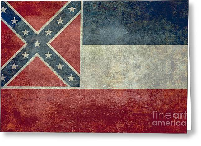 Confederacy Digital Art Greeting Cards - Mississippi State flag Greeting Card by Bruce Stanfield