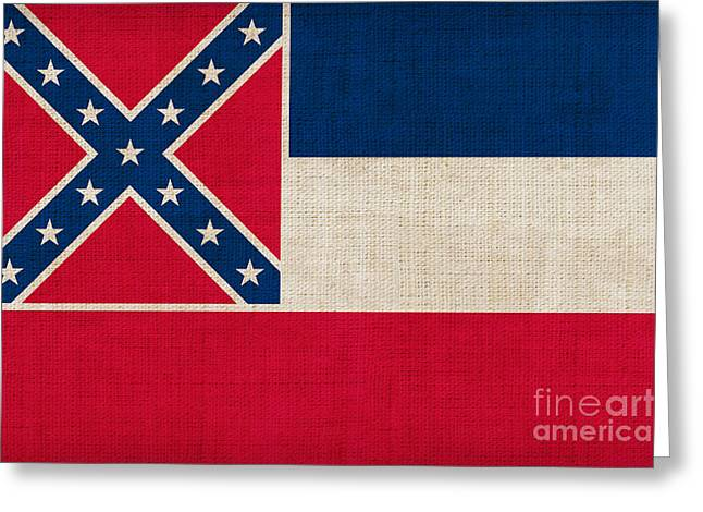 Pixel Chimp Greeting Cards - Mississippi state flag Greeting Card by Pixel Chimp