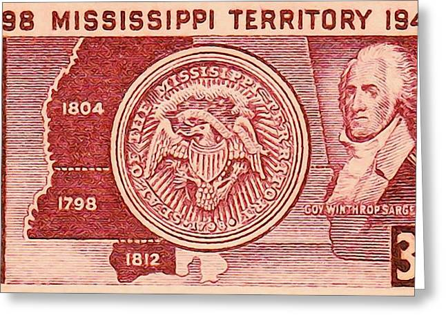 Mississippi Territory  Greeting Card by Lanjee Chee