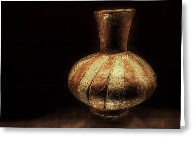 Stoneware Digital Art Greeting Cards - Mississippian Pot Greeting Card by William Fields