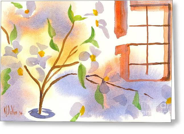Loose Greeting Cards - Missouri Dogwood in the Window Greeting Card by Kip DeVore
