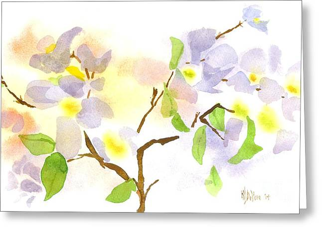 Loose Greeting Cards - Missouri Dogwood in Watercolor Greeting Card by Kip DeVore