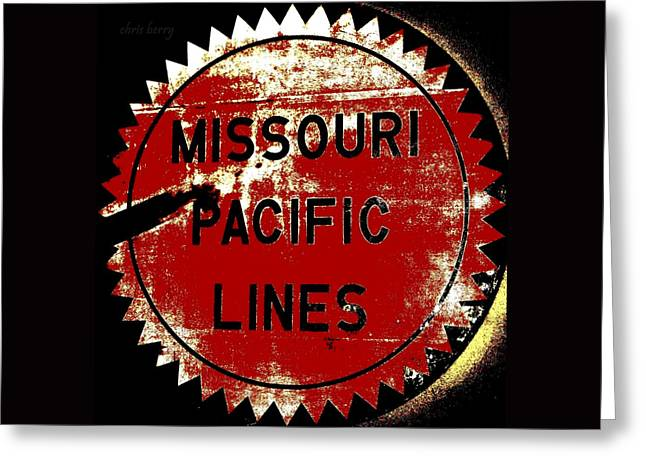 Missouri Artist Greeting Cards - Missouri Pacific Lines Greeting Card by Chris Berry
