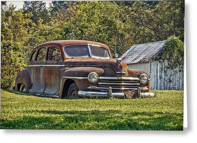 Car 47 Greeting Cards - Missouri Plymouth Greeting Card by Kevin Anderson