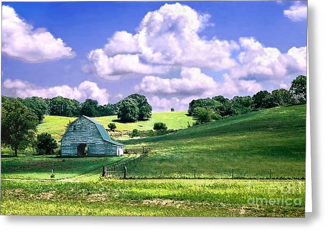 Barns Greeting Cards - Missouri River Valley Greeting Card by Steve Karol