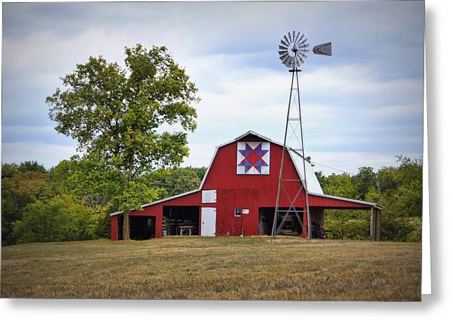 Cricket Field Greeting Cards - Missouri Star Quilt Barn Greeting Card by Cricket Hackmann
