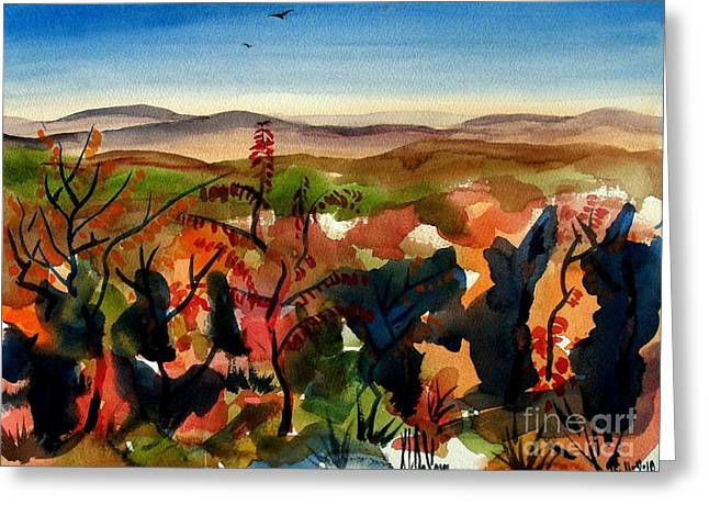 Ozark Mountains Greeting Cards - Missouris Rooftop Greeting Card by Kip DeVore