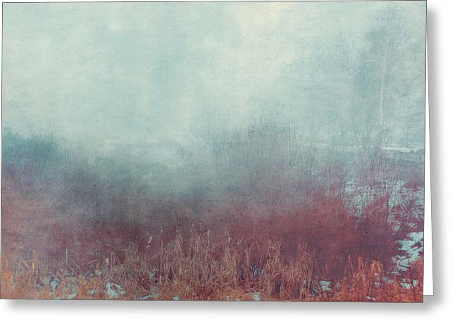 Ghastly Greeting Cards - Mist 548 Greeting Card by Violet Gray
