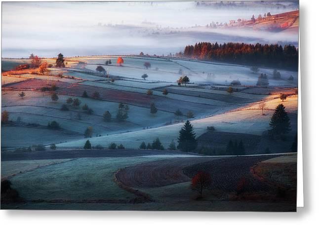 Mist Greeting Card by Amir Bajrich