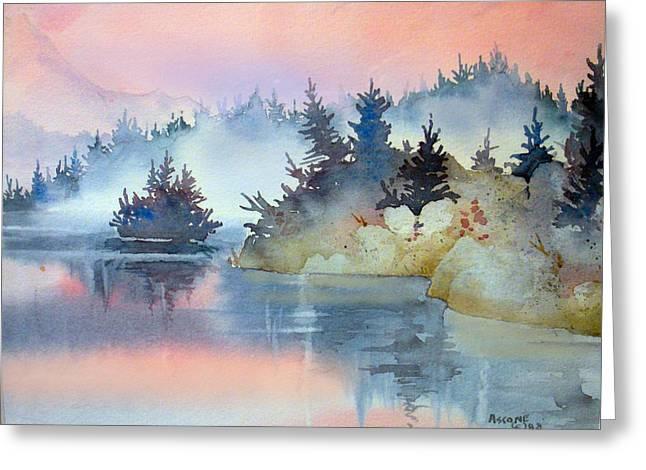 Mist At Sunrise Greeting Card by Teresa Ascone