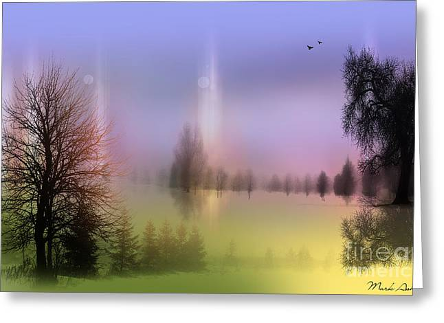 Graphic Digital Art Greeting Cards - Mist Coloring Day 2 Greeting Card by Mark Ashkenazi