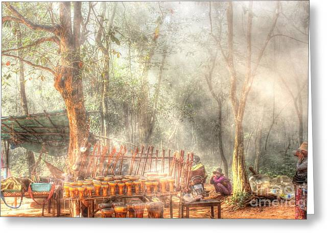 Forest Pyrography Greeting Cards - Mist In The Forest Vietnam Greeting Card by Yury Bashkin
